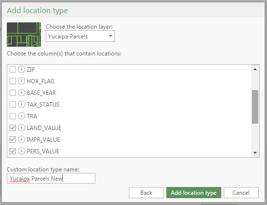 Configuring additional pop-up attributes