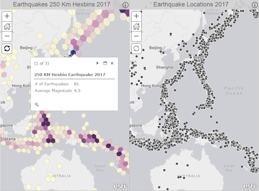 Strategies to effectively display large amounts of data in web apps this displays clusters of earthquakes across regions in equal areas which can be used for thematic mapping gumiabroncs Image collections