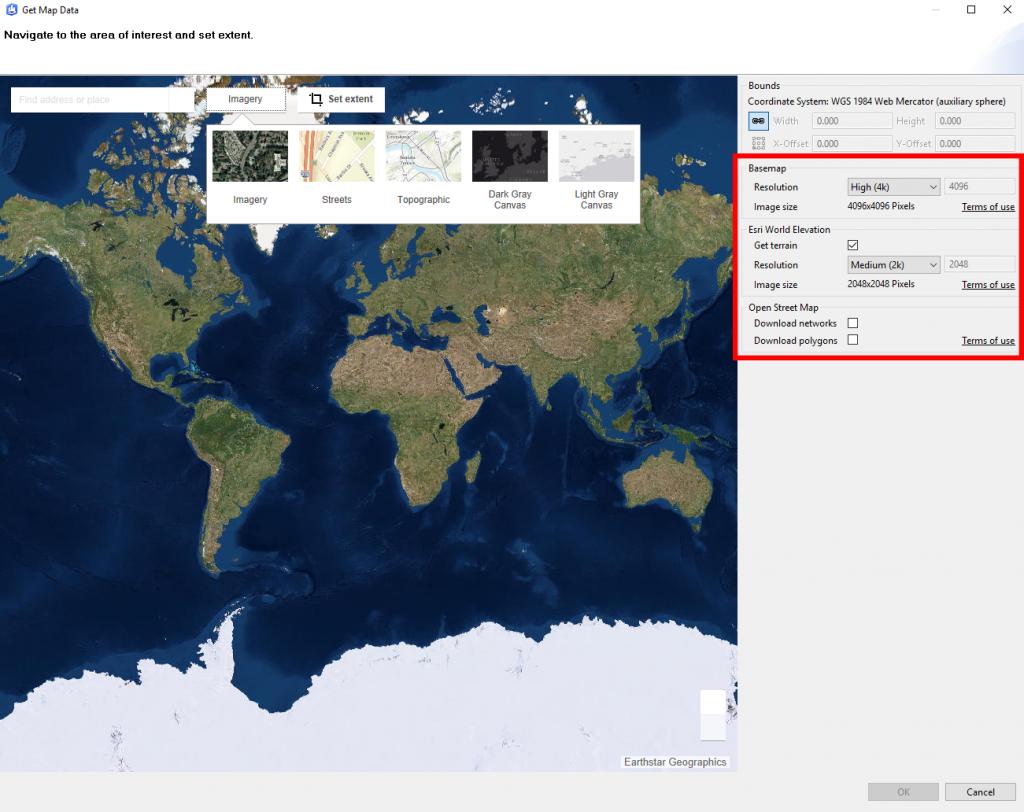 Import Terrain Imagery Osm Data Into Cityengine