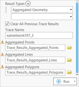 Result Types parameter on the Trace geoprocessing tool