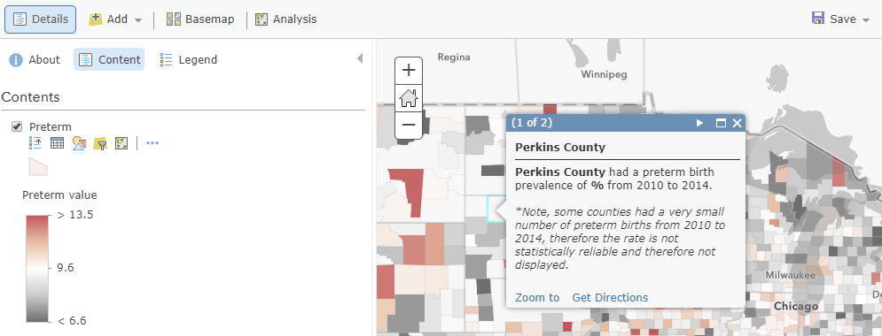 Suppress Low Counts And Still Create Informative Web Maps With Pop Ups