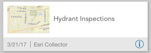 Hydrant Inspection map card