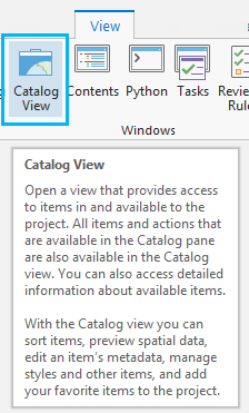 Catalog view