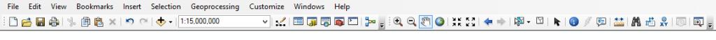 ArcMap toolbars