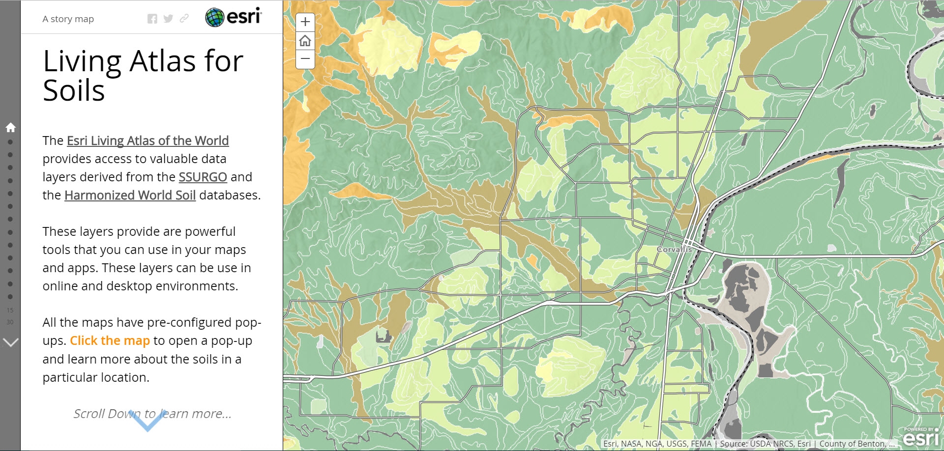 Living Atlas for Soils Story Map