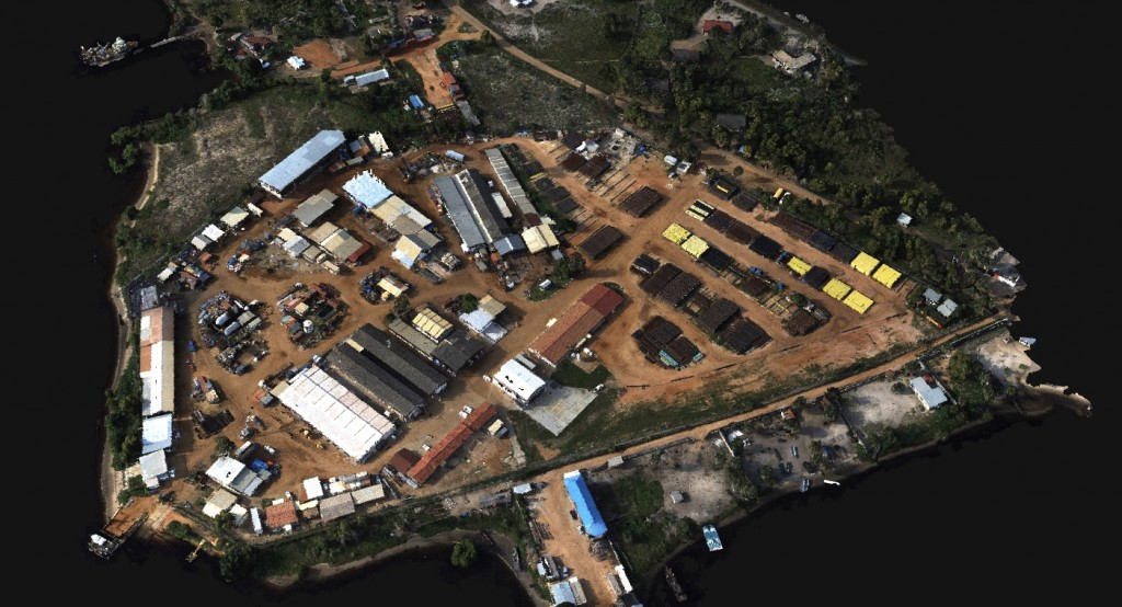 3D Point Cloud from Drone2Map