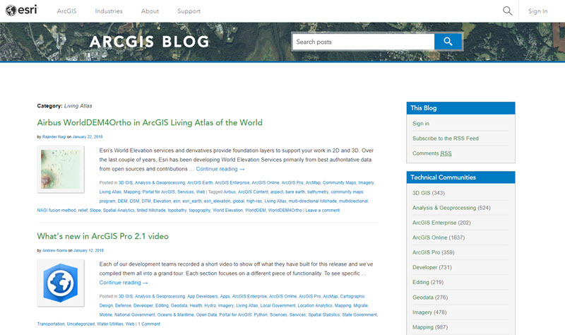 Living Atlas category ArcGIS Blog