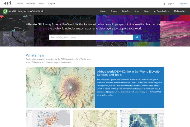 Living Atlas website Home page