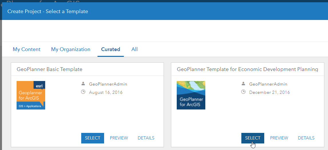 economic development geoplanner template