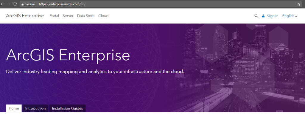 The new ArcGIS Enterprise home page