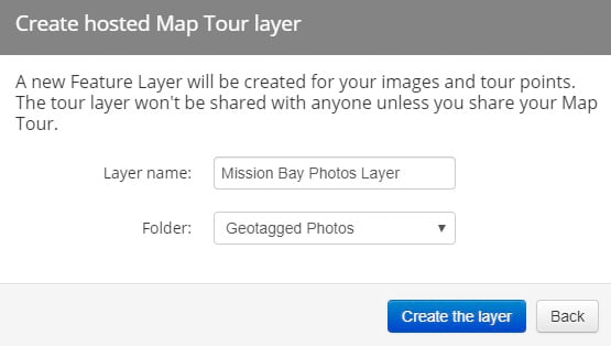 Enter feature layer name