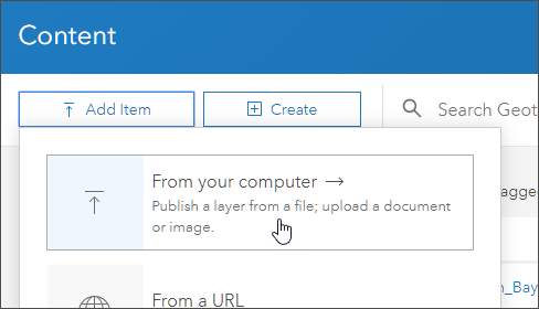 Add item from your computer