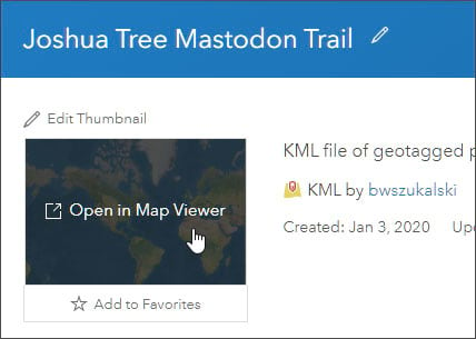 Open KML in Map Viewer