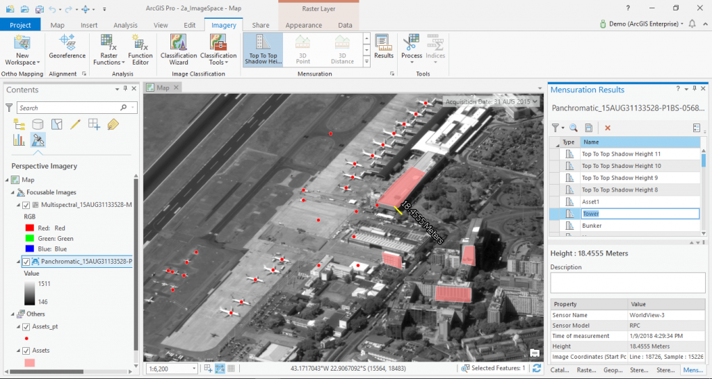 Mensuration tools in ArcGIS Pro