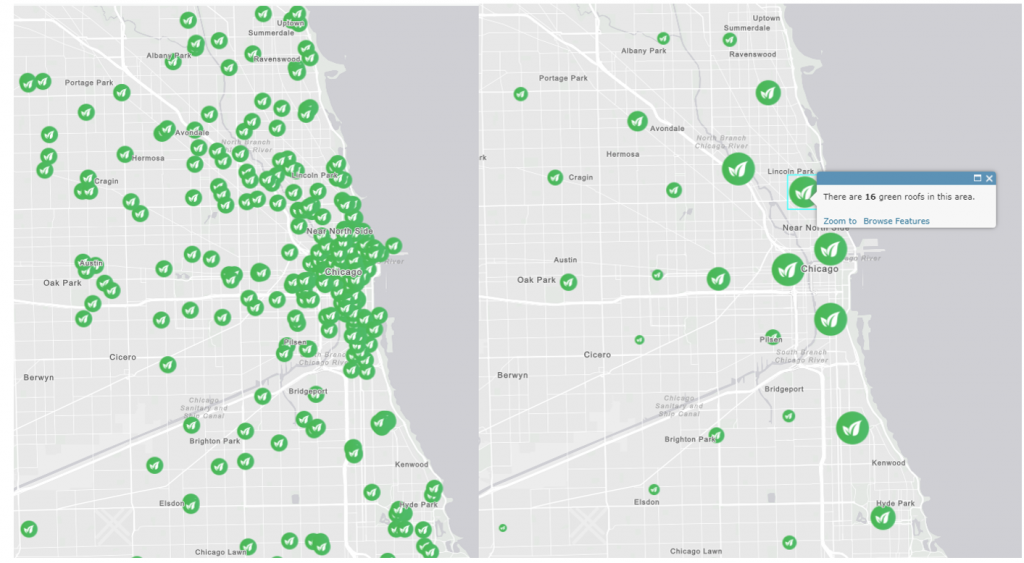 Point clusters in ArcGIS Enterprise