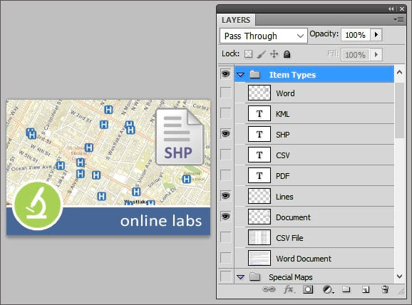 Photoshop thumbnail template