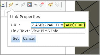 Use attribute-based URL parameters in pop-up links