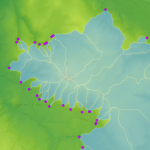 Created watersheds in Image Server