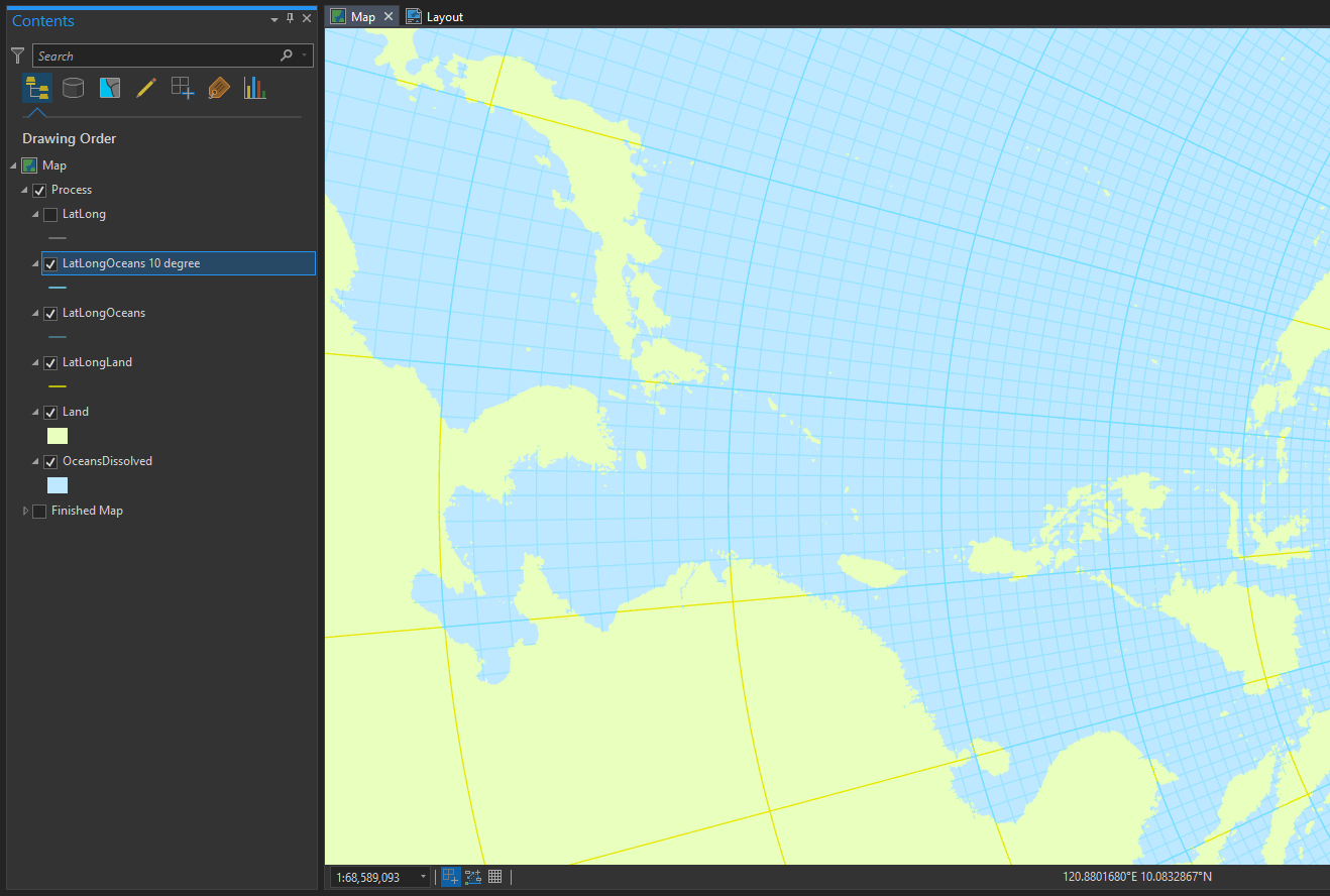 World Map Grid Lines