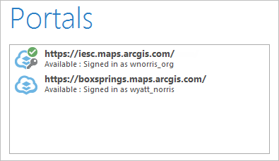 Portals connections after updates