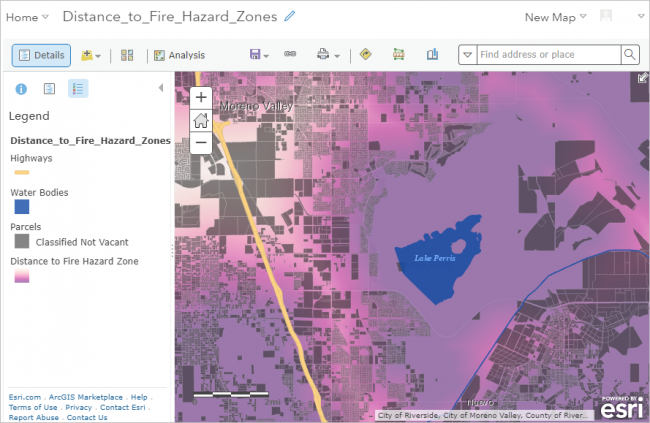 Web map in ArcGIS Online