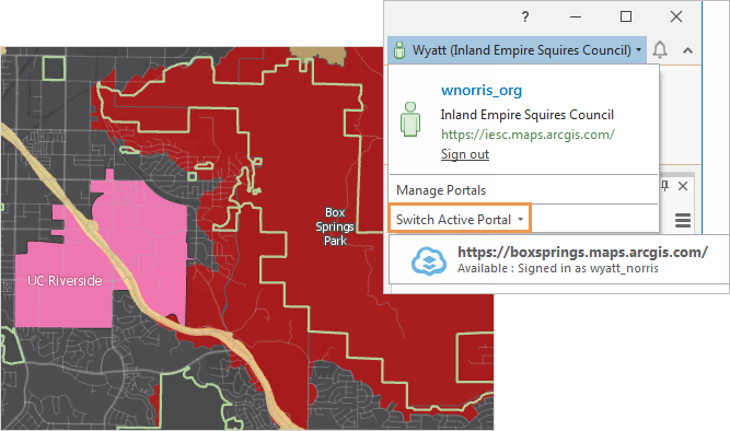 Sign-in status with a map in the background