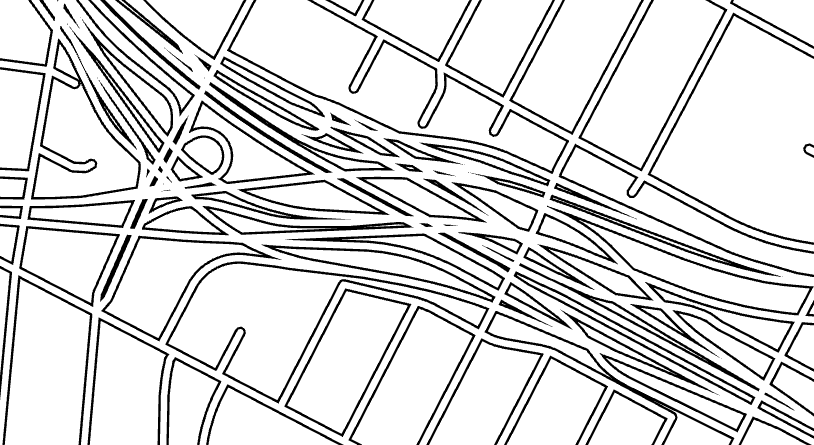 interchange with symbol layer drawing