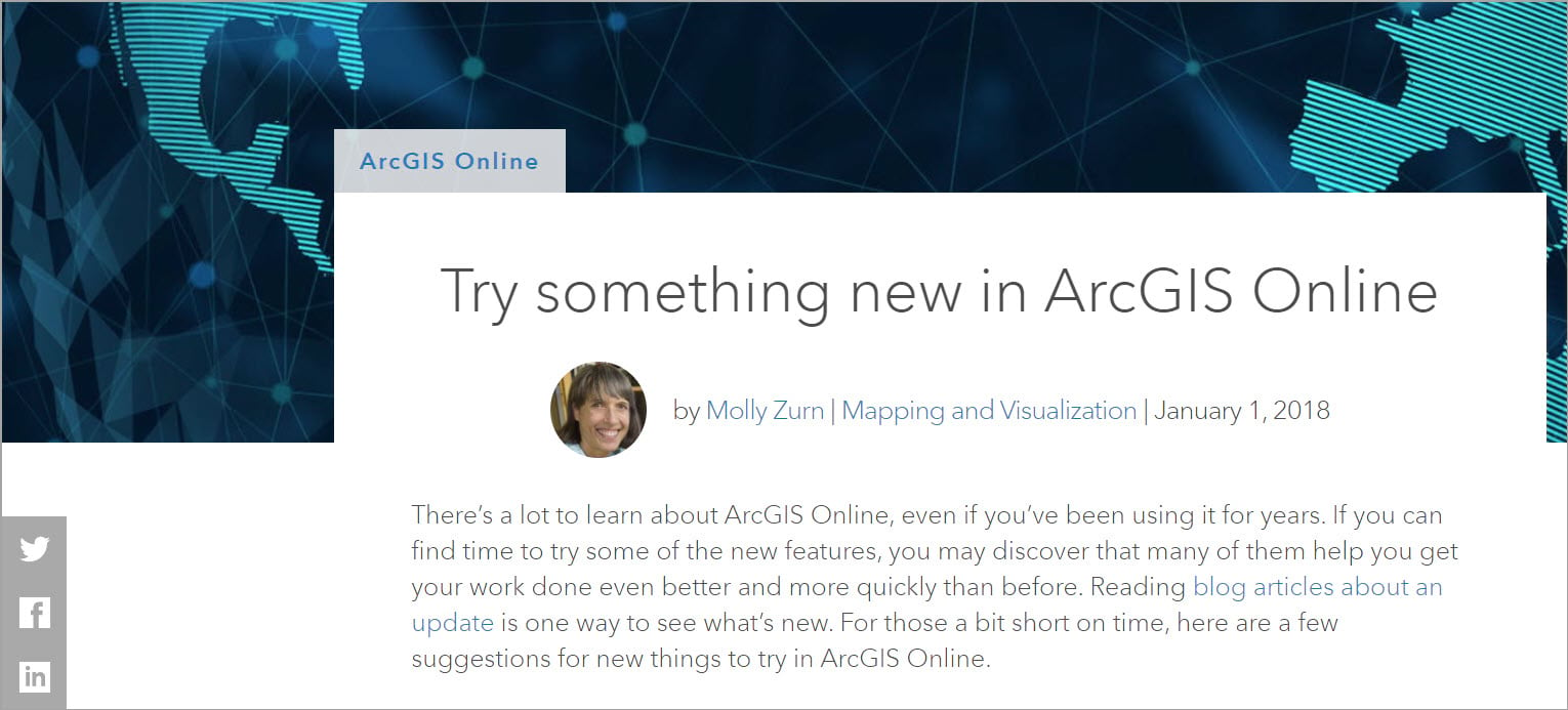 ArcGIS Blog article