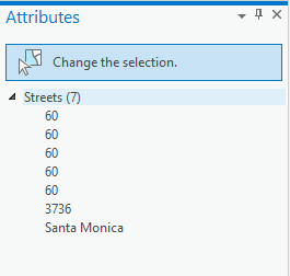 On the attributes pane, select the layer name
