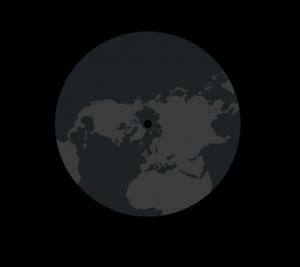 map of the northern hemisphere using the polar stereographic projection