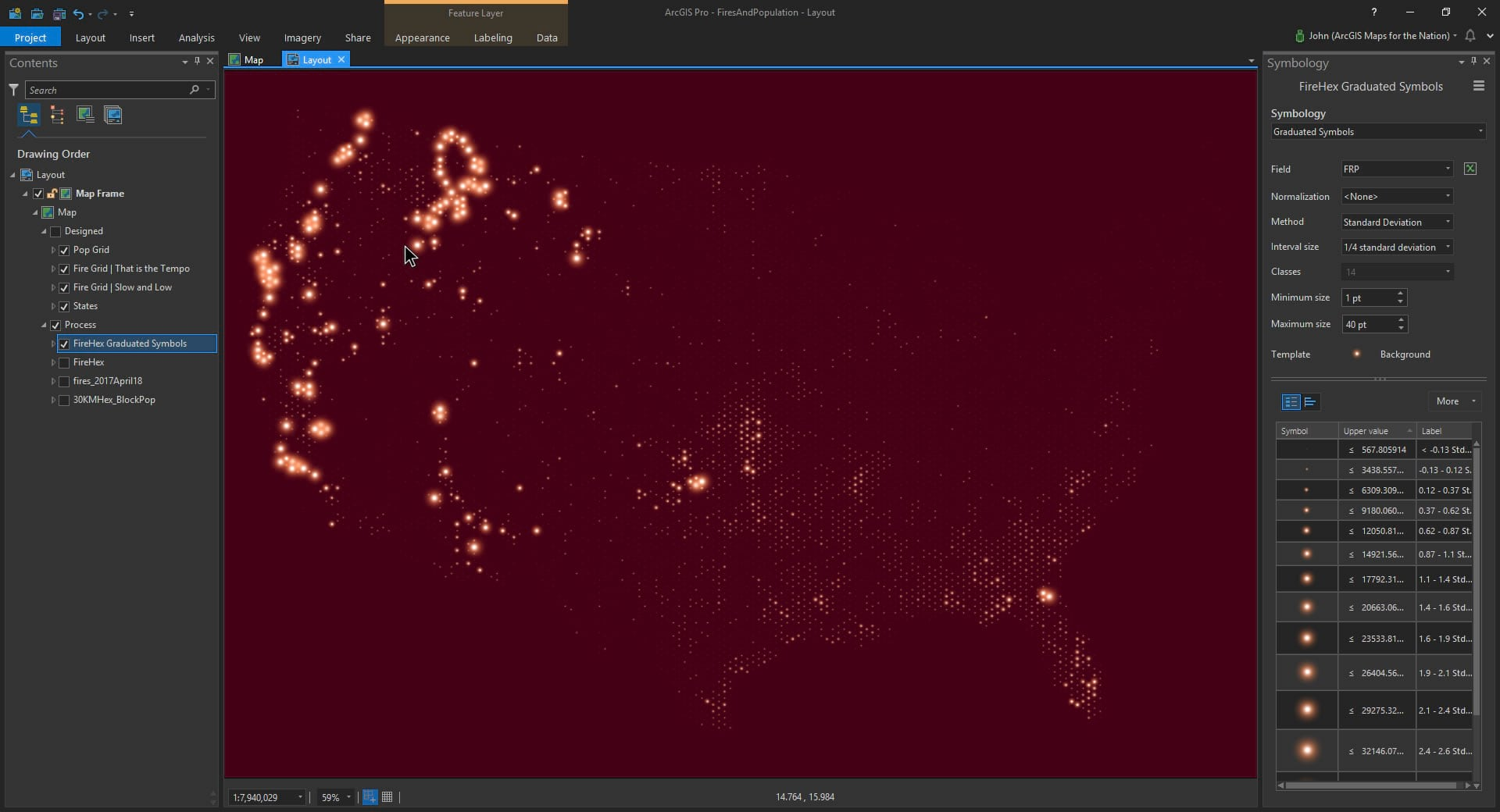 Context Mapping Fires And Population