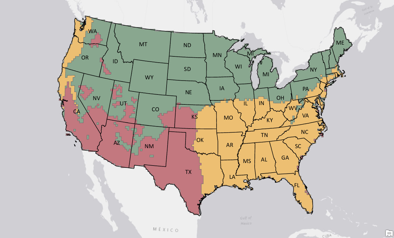Koppen Map Of Usa on mitchell map of usa, white map of usa, light map of usa,