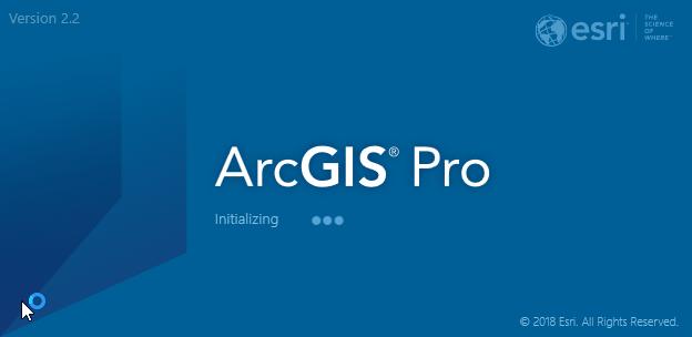 ArcGIS Pro 2.2. Splash Screen
