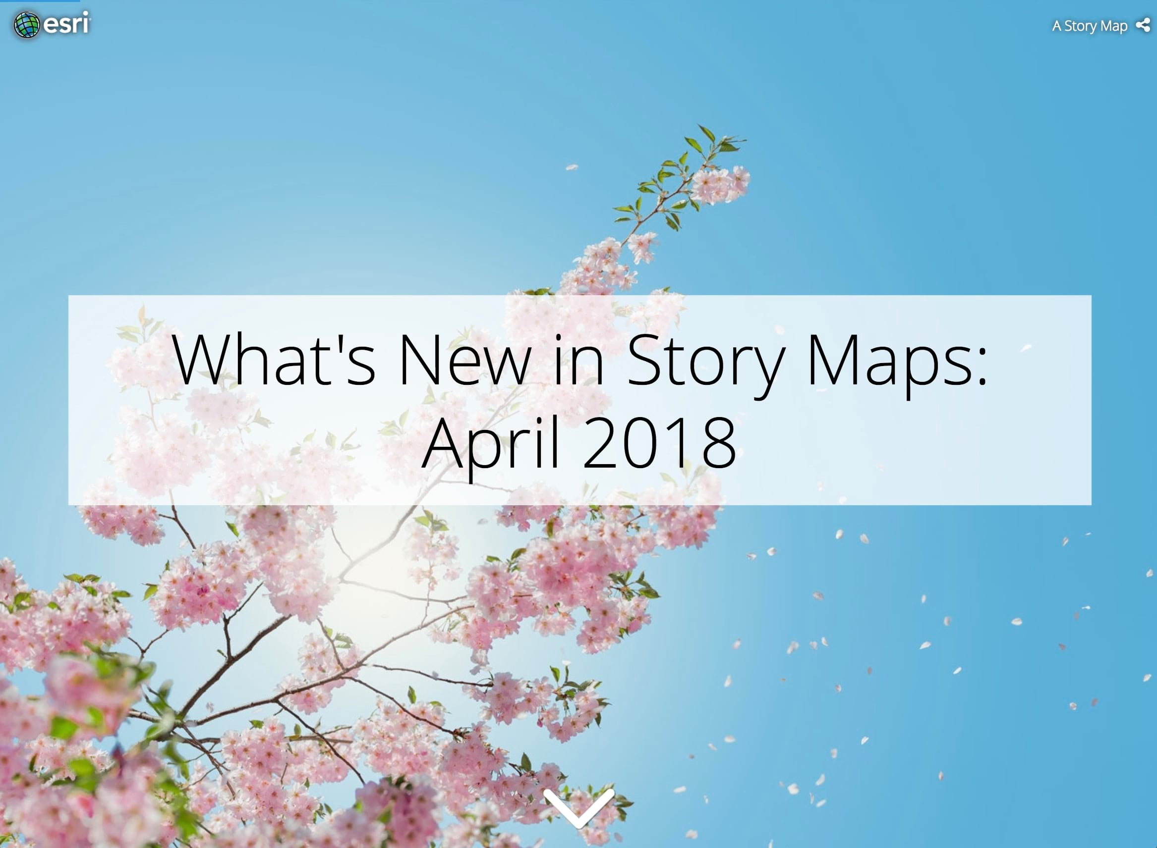What's New in Story Maps