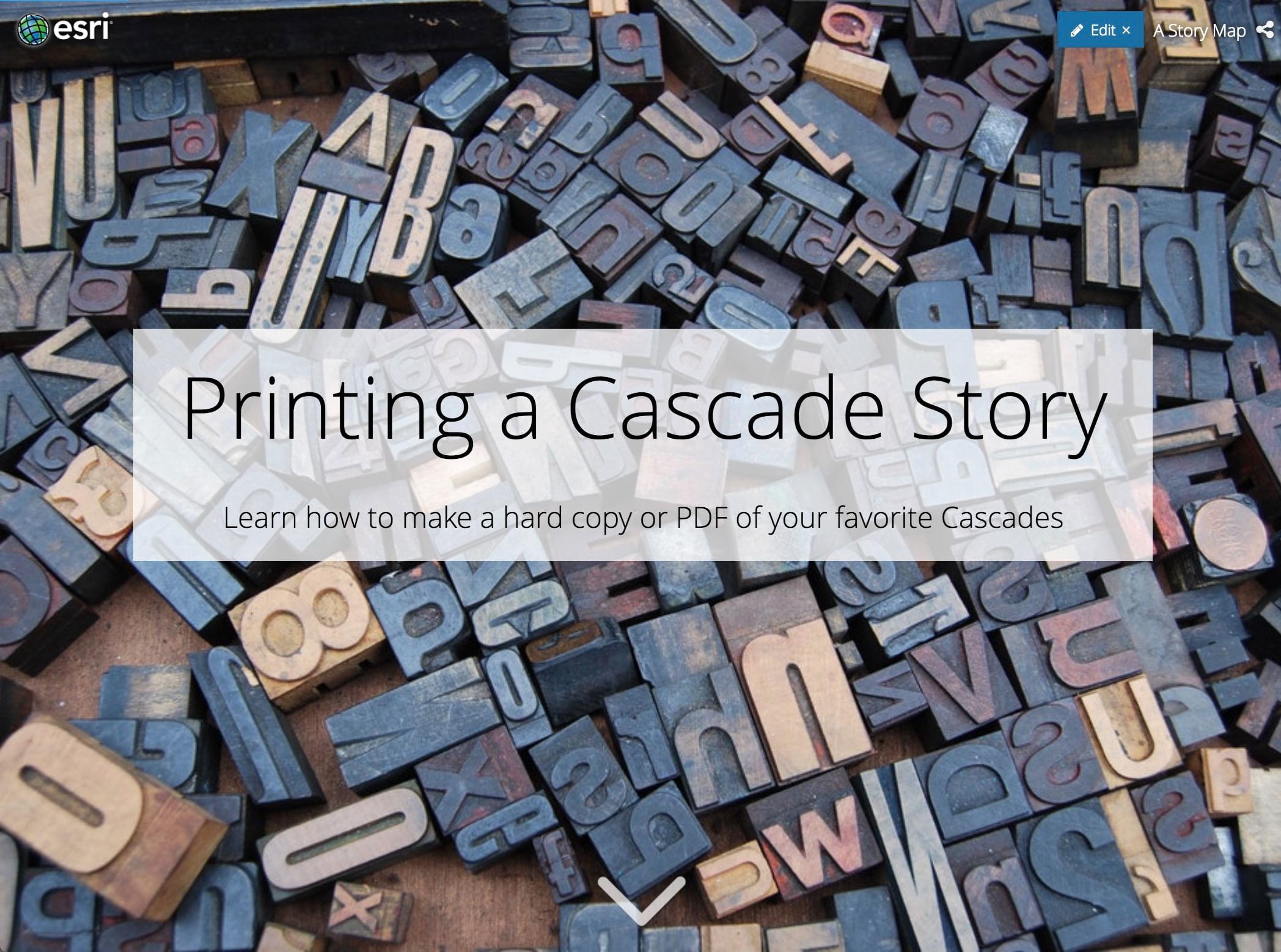 Printing a Cascade Story