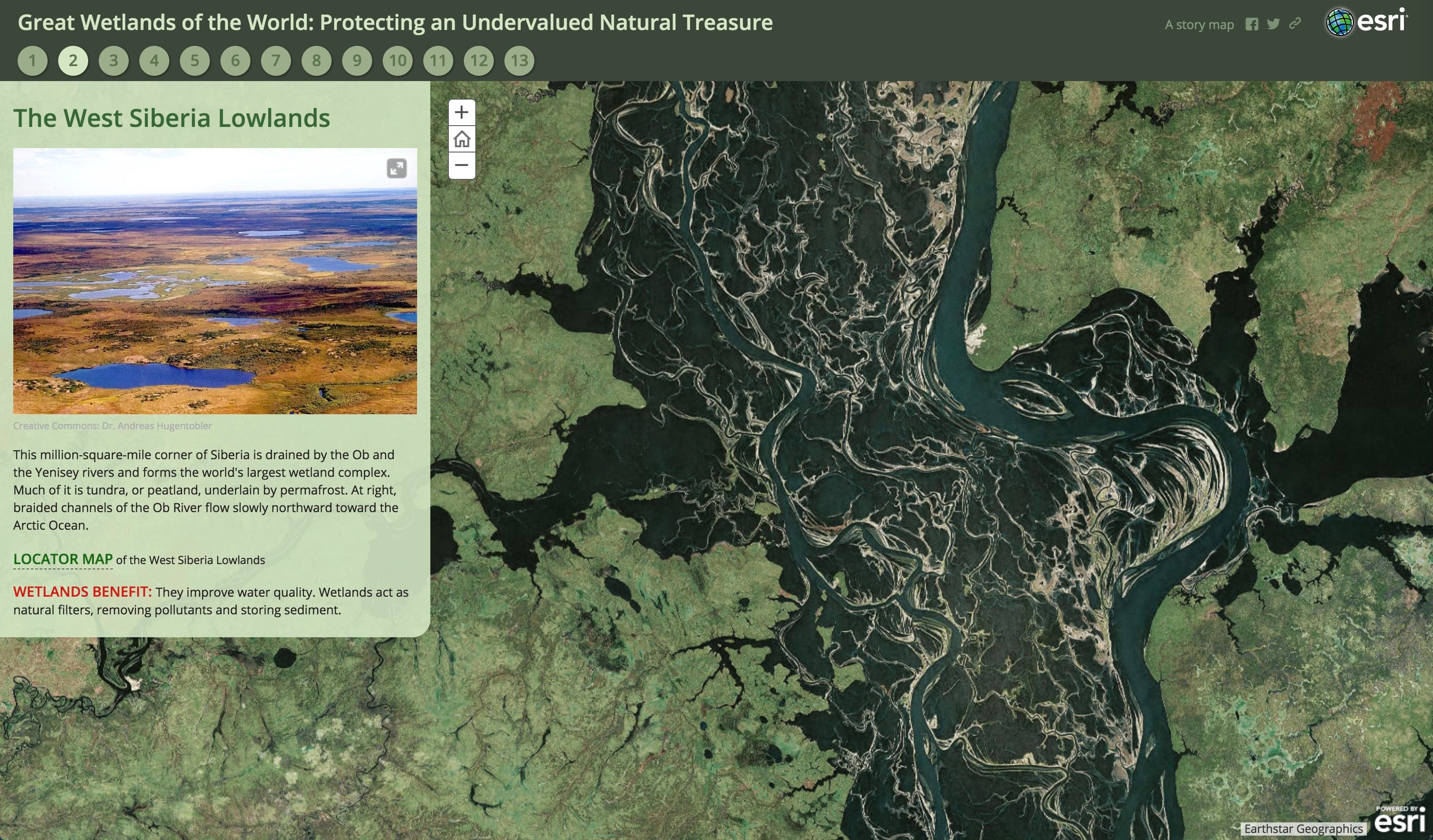 Great Wetlands of the World story map
