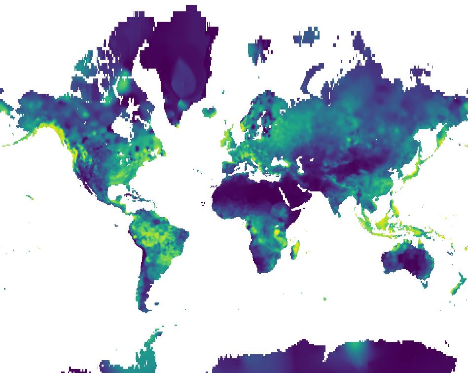 Soil Moisture August 2017 using the new Viridis color scheme