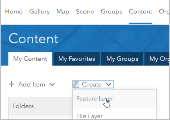 Create a feature layer