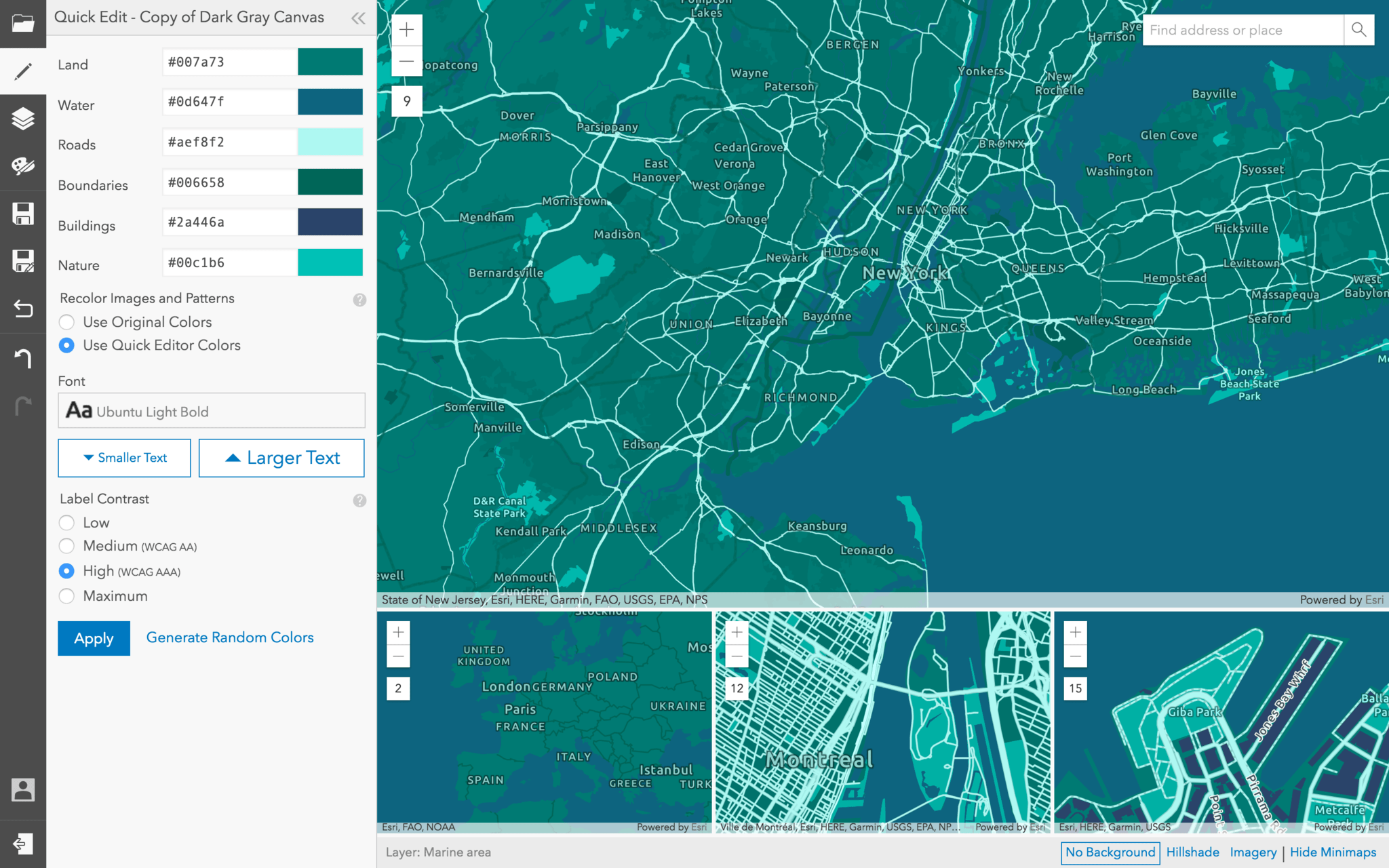 Design custom basemaps with the new ArcGIS Vector Tile Style