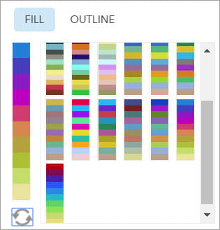 Fill color ramps