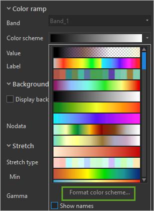Format color scheme