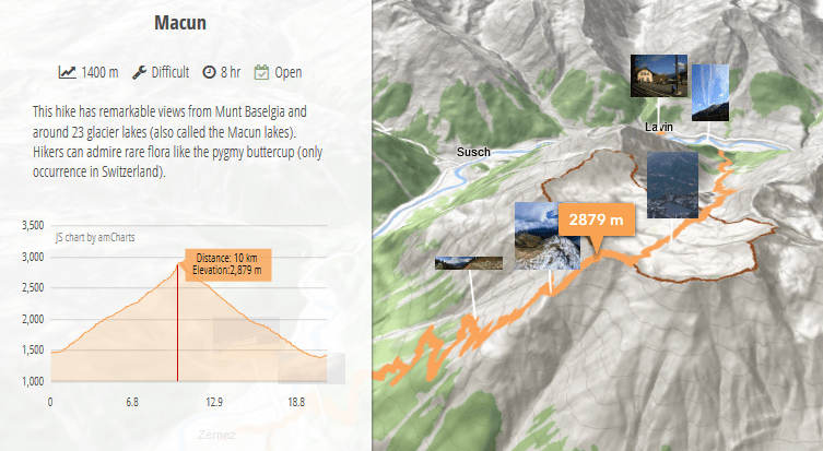 Fun facts about creating an interactive 3D hiking map
