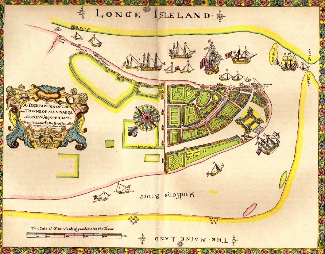 Fort Amsterdam map
