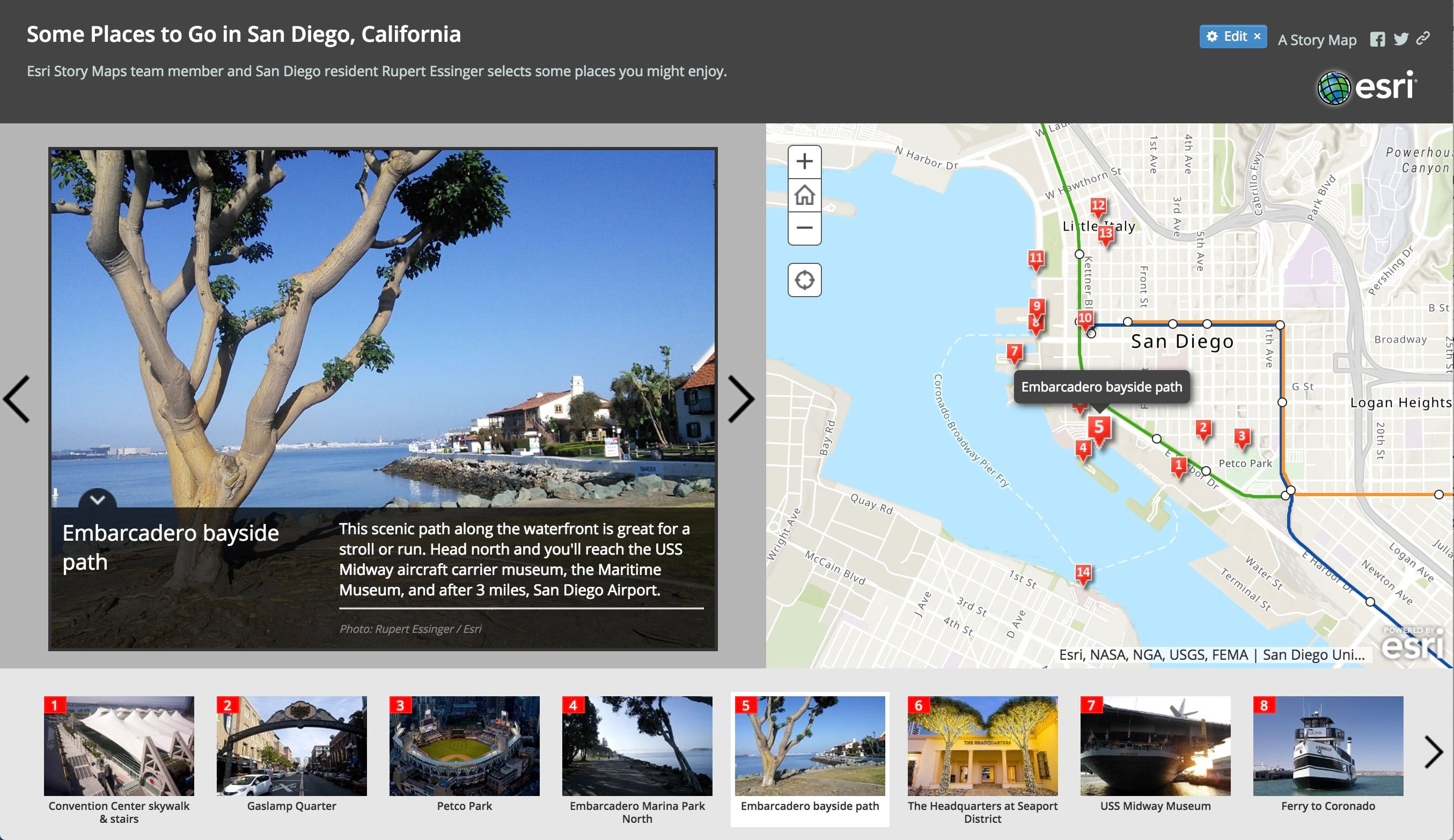 Some Places to Go in San Diego story map