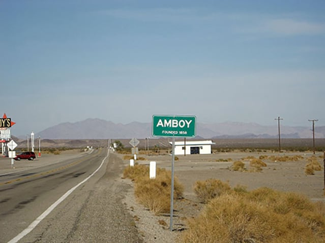 The booming metropolis of Amboy, California