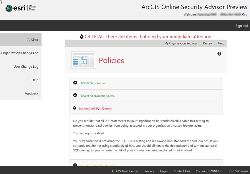 ArcGIS Online FedRAMP Authorization & New Security Advisor Tool