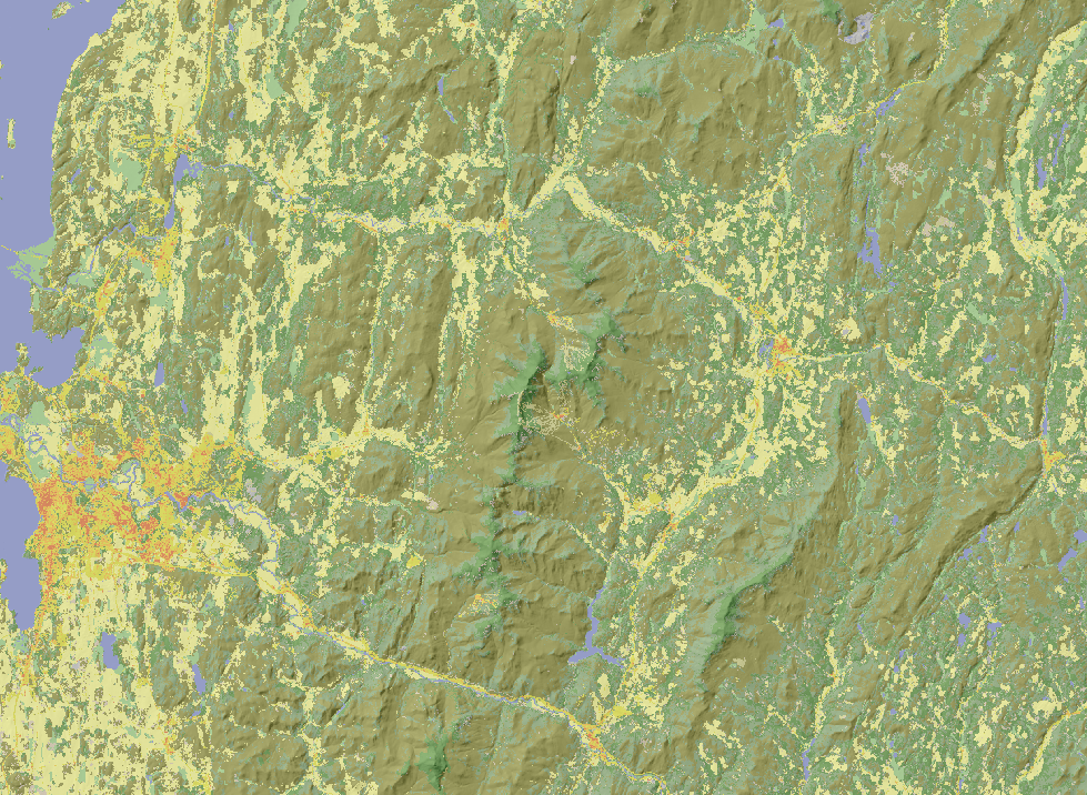 Landcover subset for northern Vermont