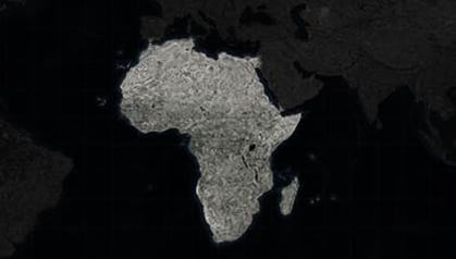 map of african continent only