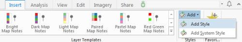 ArcGIS Pro Insert tab