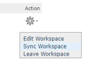 Sync Workspace option